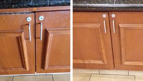 Carbondale commercial cabinet refinish