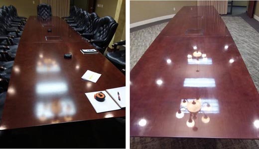 Marion commercial furniture refinishing